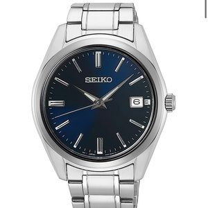 Mens Seiko 40mm Silver Watch